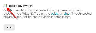 Twitter - Protect my tweets