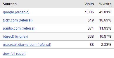 Referring Sites by Google Analytics