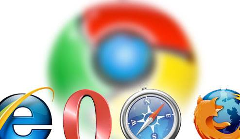 Browser Logos: Internet Explorer, Opera, Safari, Firefox, Google Chrome