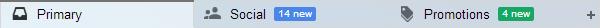 แท็บใหม่บน Gmail